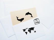 世界鲸鱼海豚天象征 7月23日 图库摄影