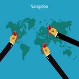 世界,地图, infographic 皇族释放例证
