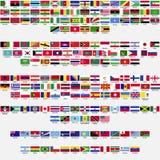 世界,汇集的旗子 库存照片