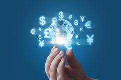 世界货币市场 图库摄影