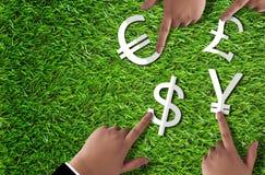 世界货币概念 免版税库存照片