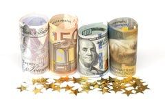 世界货币笔记 库存照片