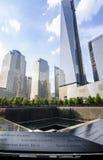 世界贸易中心一号大楼,爆心投影纪念品 免版税库存图片