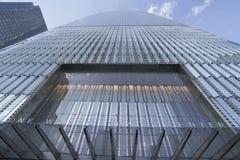 世界贸易中心一号大楼-最高buidling在新的约克曼哈顿-纽约- 2017年4月1日 免版税库存图片