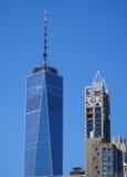 世界贸易中心一号大楼-最高buidling在新的约克曼哈顿-纽约- 2017年4月1日 库存图片