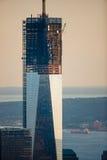 世界贸易中心一号大楼建设中,曼哈顿,纽约 免版税库存照片