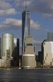 世界贸易中心一号大楼(1WTC),在纽约地平线以为特色的自由塔,纽约,纽约,美国 免版税库存照片