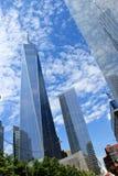 世界贸易中心摩天大楼在纽约 免版税库存照片