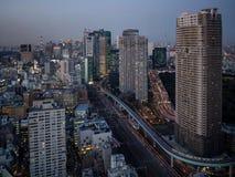 从世界贸易中心观测所的东京铁塔视图 免版税库存照片
