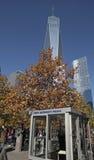 世界贸易中心, WTC,爆心投影,纽约 免版税库存图片