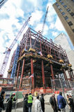 1世界贸易中心建设中,纽约 免版税库存图片
