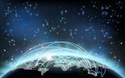 世界贸易地图运输后勤学概念 库存例证