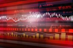 世界经济图表 图库摄影