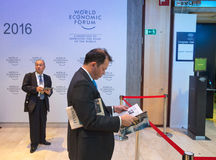 世界经济论坛在达沃斯(瑞士) 库存照片