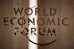 世界经济论坛在达沃斯(瑞士) 免版税库存照片