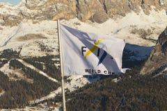 世界滑雪人Ita下坡种族 库存照片