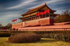 世界` s最大的方形的天安门 中国,北京 一个普遍的旅游目的地 免版税库存图片