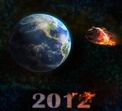 世界2012年例证的末端 免版税库存照片