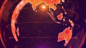 世界AI人工智能全球网络概念 事IoT互联网  ICT全球性通信网络 股票录像