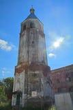 18世纪三位一体大教堂Belltower在Klin市 库存照片