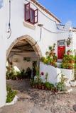 15世纪中世纪镇霍尔(Antigos Paços做Concelho) Castelo de Vide中世纪自治市镇的, 图库摄影