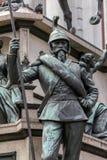 19世纪中叶撒丁岛战士的雕象 免版税库存照片