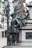 19世纪中叶撒丁岛战士的雕象 库存图片