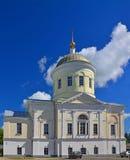 17世纪伊利因斯基火山教会在Torzhok市 免版税库存照片