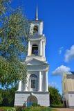 17世纪伊利因斯基火山教会Belltower在Torzhok市 库存照片