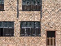 16世纪佛兰芒砖和窗口细节 免版税库存照片