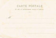 20世纪初的明信片的反面 免版税库存图片