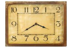 从20世纪初的艺术装饰clockface 免版税库存图片
