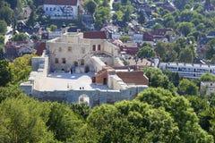 14世纪卡齐米日Dolny废墟防御,防御设防,卡齐米日Dolny,波兰 库存照片