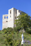 14世纪卡齐米日Dolny废墟防御,防御设防,波兰 库存照片