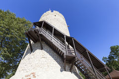 14世纪卡齐米日Dolny废墟防御,防御设防,波兰 免版税库存照片