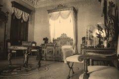 18世纪卧室 免版税库存图片