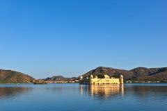 18世纪印度斋浦尔jal湖mahal人宫殿拉贾斯坦sagar水 斋浦尔,拉贾斯坦, I 免版税库存照片