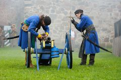 17世纪历史的节日 免版税图库摄影