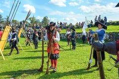 17世纪历史的节日 库存照片