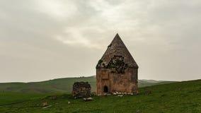 16世纪古老历史陵墓复合体  Shemakhy市,阿塞拜疆区  库存照片
