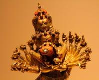 18世纪古铜色西藏雕象在宗教的历史博物馆  库存图片