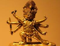 19世纪古铜色西藏雕象在宗教的历史博物馆  免版税库存照片