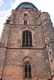 14世纪哥特式圣Elisabeth教会,塔,集市广场,弗罗茨瓦夫,波兰 免版税库存照片