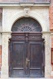 14世纪哥特式圣Elisabeth教会,木门,集市广场,弗罗茨瓦夫,波兰 库存图片