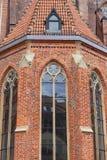 14世纪哥特式圣Elisabeth教会,门面,集市广场,弗罗茨瓦夫,波兰 免版税库存照片