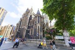 12世纪哥特式样式Southwark大教堂,伦敦,英国 免版税库存图片
