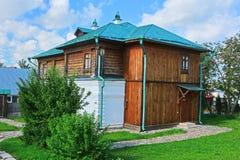 19世纪商人房子在木建筑学博物馆在苏兹达尔,俄罗斯 库存照片