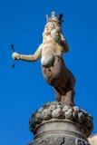 17世纪喷泉在陶尔米纳,意大利 免版税库存图片