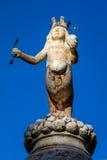 17世纪喷泉在陶尔米纳,意大利 库存照片