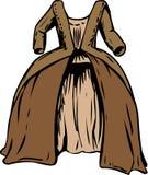 18世纪圆的褂子 库存例证